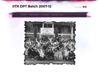 iitrdptbatch2007-2012.weebly.com screenshot