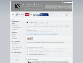 ijais.org screenshot