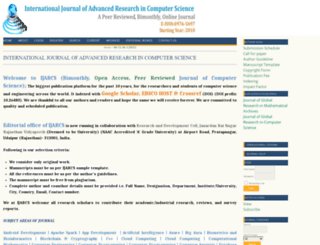 ijarcs.info screenshot