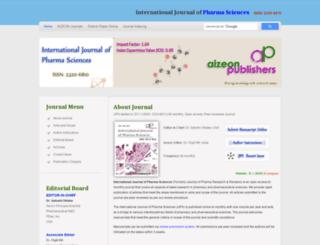 ijps.aizeonpublishers.net screenshot