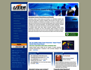 ijssh.org screenshot