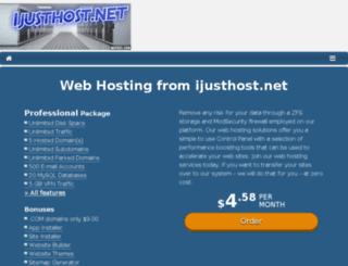 ijusthost.net screenshot