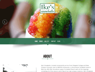 ikessnowballs.com screenshot