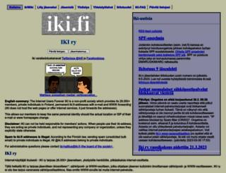 iki.fi screenshot