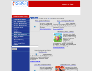 ikidspad.com screenshot