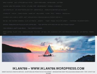iklan789.wordpress.com screenshot