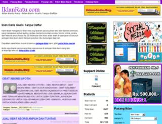 iklanratu.com screenshot