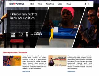iknowpolitics.org screenshot