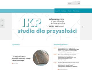 ikp.uw.edu.pl screenshot