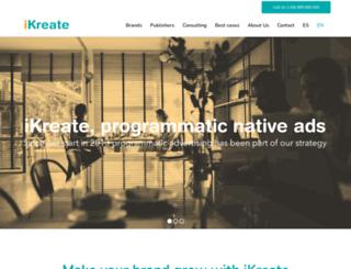 ikreate.es screenshot