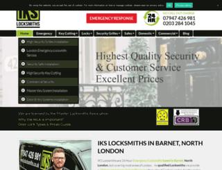 ikslocksmiths.co.uk screenshot