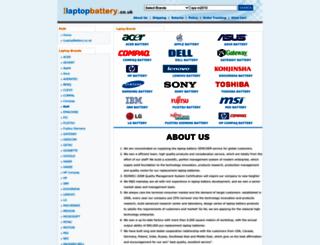 ilaptopbattery.co.uk screenshot