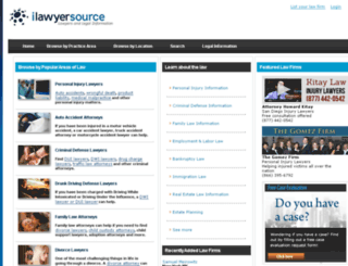 ilawyersource.com screenshot