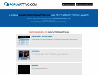 ilcomplotto.forumattivo.com screenshot