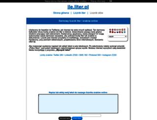 ile.liter.pl screenshot