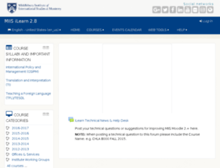ilearn.miis.edu screenshot