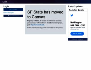 ilearn.sfsu.edu screenshot