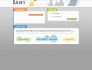 ilearn.ucr.edu screenshot