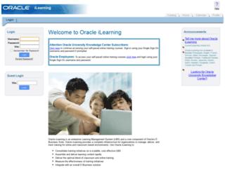 ilearning.oracle.com screenshot
