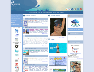 iledefrance.ffnatation.fr screenshot