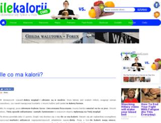ilekalorii.com screenshot