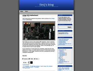 ilesj.wordpress.com screenshot