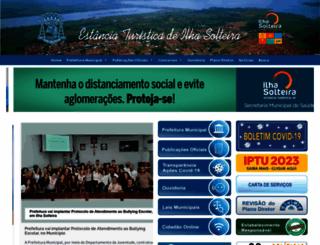 ilhasolteira.sp.gov.br screenshot