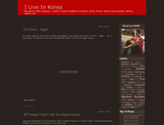 iliveinkorea.blogspot.in screenshot