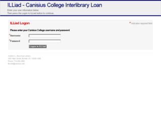 illiad.canisius.edu screenshot