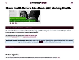 illinoishealthmatters.org screenshot