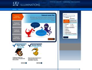 illuminations.nctm.org screenshot