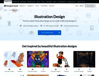 illustration.designcrowd.co.in screenshot