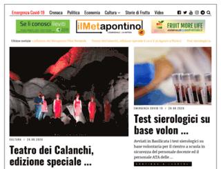 ilmetapontino.it screenshot