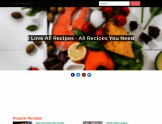 iloveallrecipes.com screenshot