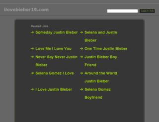 ilovebieber19.com screenshot