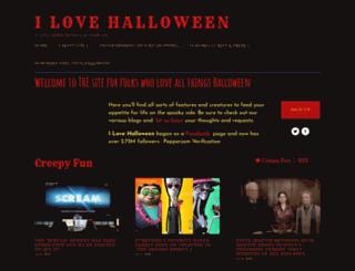 ilovehalloween.net screenshot