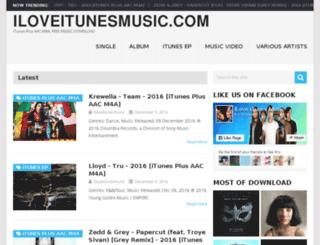 iloveitunesmusic.com screenshot
