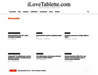 ilovetablette.com screenshot