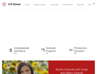 ilr.cornell.edu screenshot