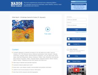 ilstu.naxosmusiclibrary.com screenshot