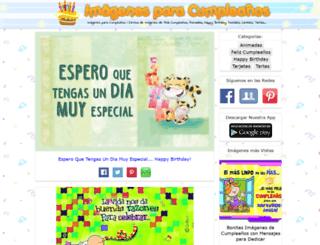 imagenesparacumpleanos.com screenshot