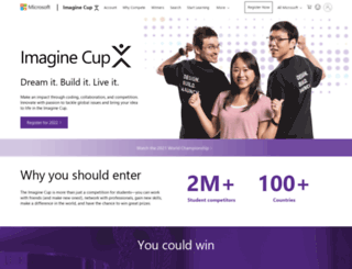 imaginecup.com screenshot