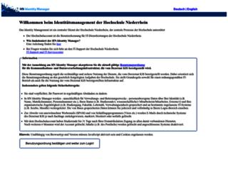 iman.hs-niederrhein.de screenshot