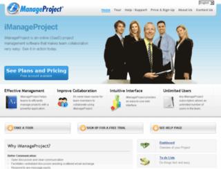 imanageproject.com screenshot