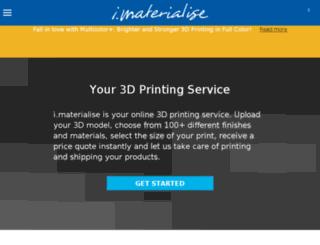 imaterialise.com screenshot