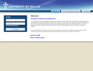 imba.udallas.edu screenshot