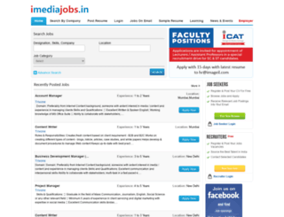 imediajobs.in screenshot