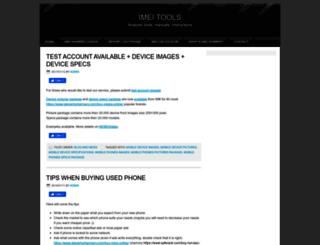 imei-number.com screenshot