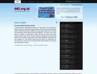 imei.org.uk screenshot