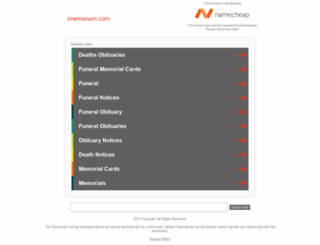 imemorium.com screenshot